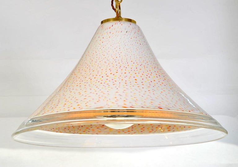 Mid-Century Modern 1970s Italian Tutti Frutti Glass Pendant Lights For Sale