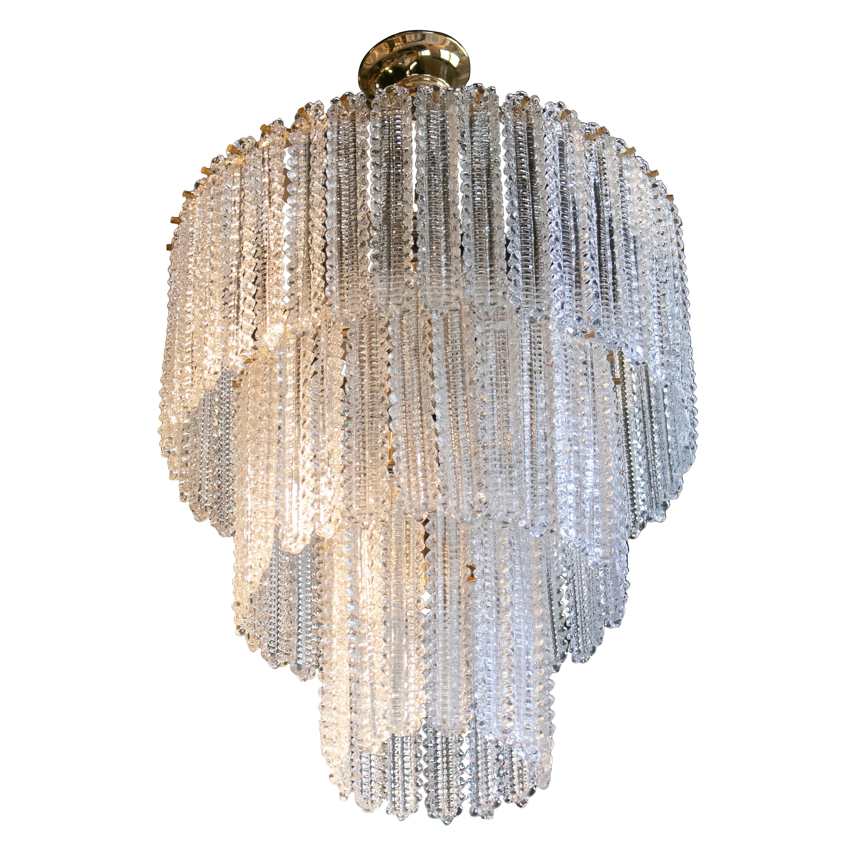 1970s Italian Venetian Murano Glass Ceiling Lamp