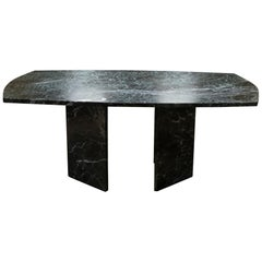 1970s Italian Verdi Alpi Marble Center / Dining Table