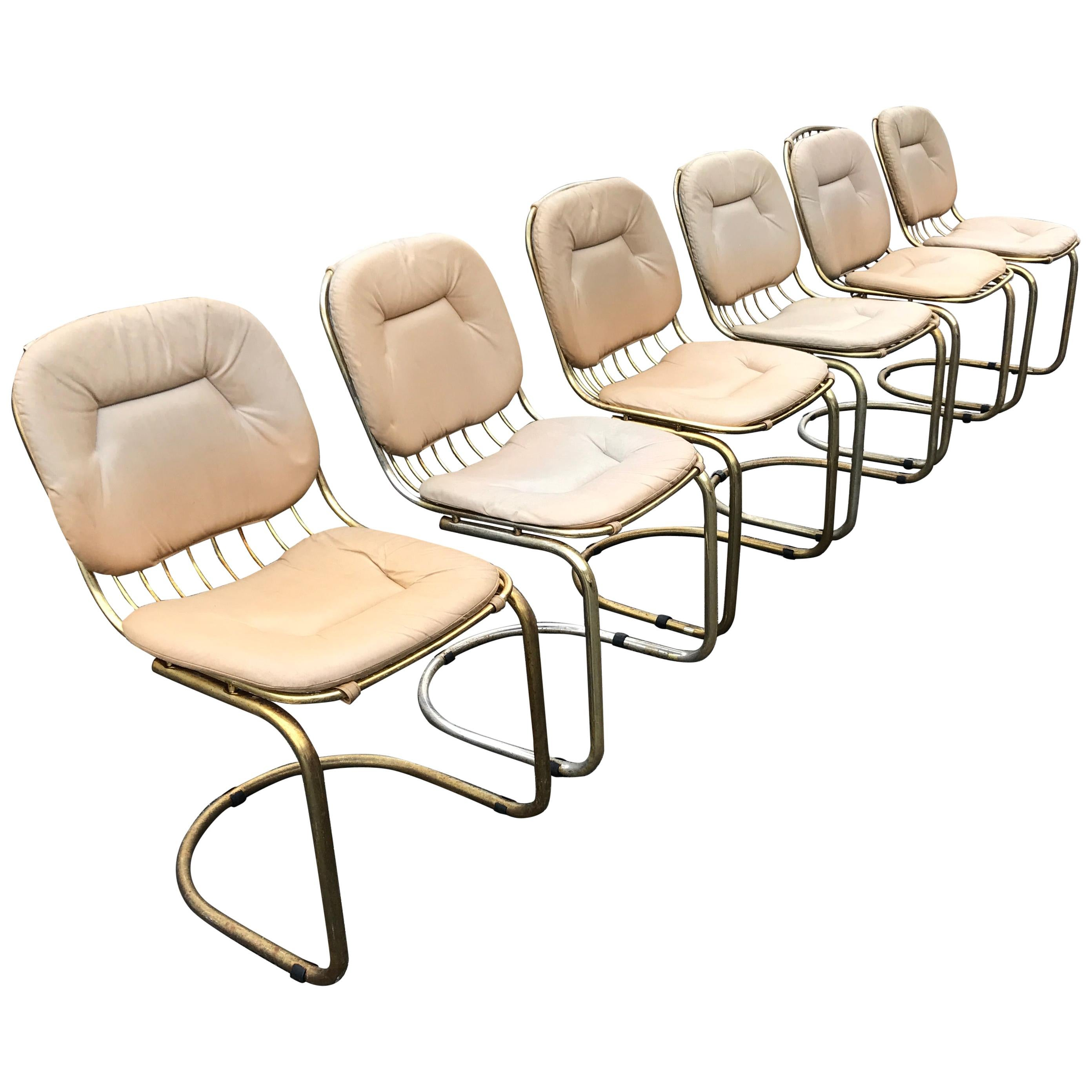 1970s Italian Vintage Cantilever Chairs