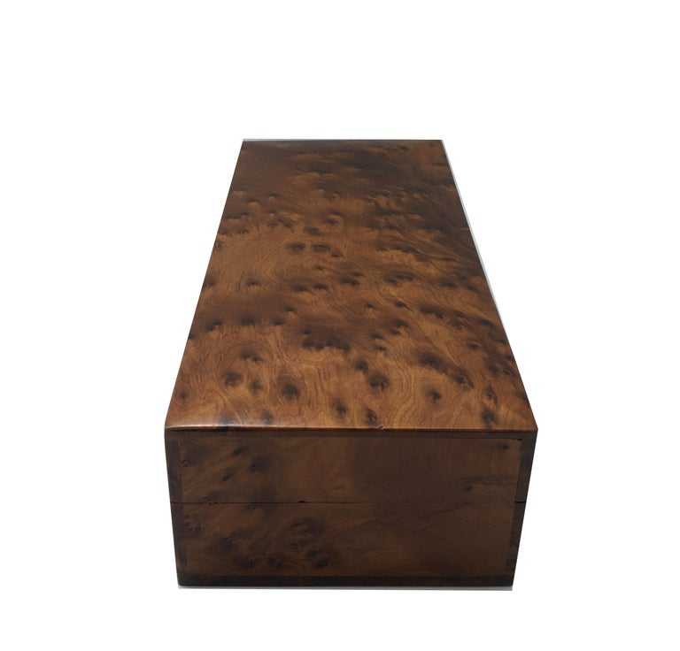 1970s Italian Walnut Briar Box In Good Condition For Sale In Naples, IT