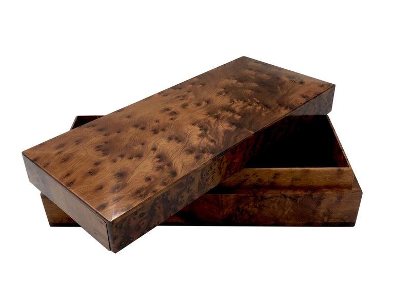 1970s Italian Walnut Briar Box For Sale 2