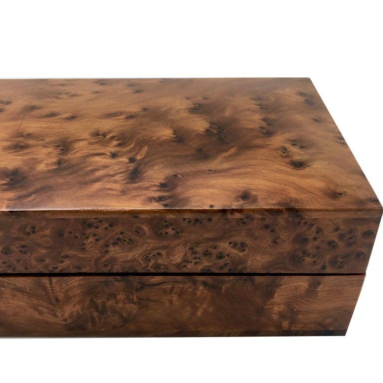 1970s Italian Walnut Briar Box For Sale 4
