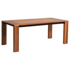 1970s Italian Walnut Wood Table by Acerbis