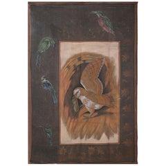 "1970s Jaime Parlade Designer Hand Painting ""Birds"" Oil on Canvas"