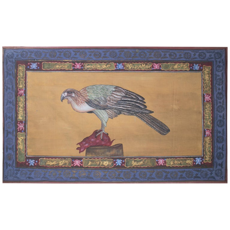 "1970s Jaime Parlade Designer Hand Painting ""Vulture"" Oil on Canvas For Sale"