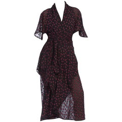 1970's Janice Wainwright Silk Chiffon Dress