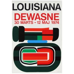 1970s Jean Dewasne Exhibition Poster Pop Art Design