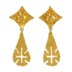 1970s Jean Mahie Gold Day-to-Night Earrings with Removable Pendants