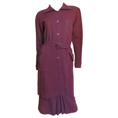 1970s Jean Muir Belted Skirt Suit