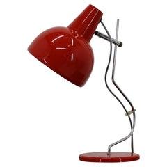 1970s Josef Hurka Red Table Lamp for Lidokov, Czechoslovakia