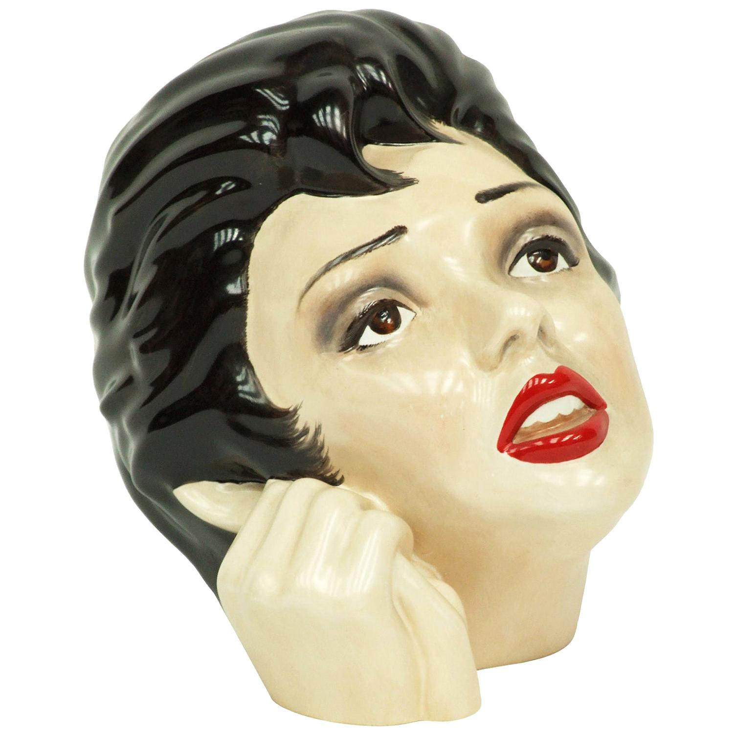 1970s Judy Garland Ceramic Bust by Morris Rushton for Fleshpots