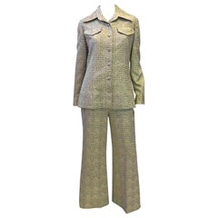 1970's Kent Originals Gold Lame Pant Suit