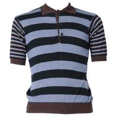 1970s Kenzo Striped Polo T-shirt