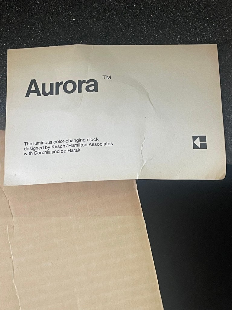 1970's Kirsch Hamilton Aurora Clock with Original Box For Sale 6