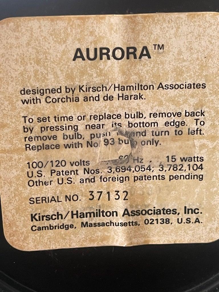 1970's Kirsch Hamilton Aurora Clock with Original Box For Sale 9