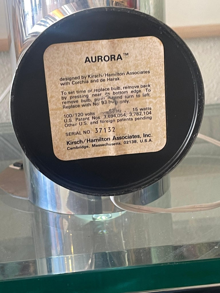 1970's Kirsch Hamilton Aurora Clock with Original Box For Sale 10