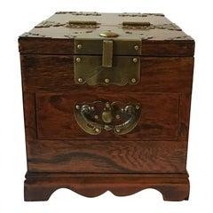 1970s Korean Wood & Brass Mirrored Box
