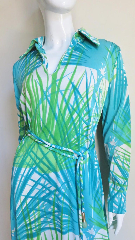 Women's 1970s La Mendola Maxi Dress and Silk Over Skirt For Sale