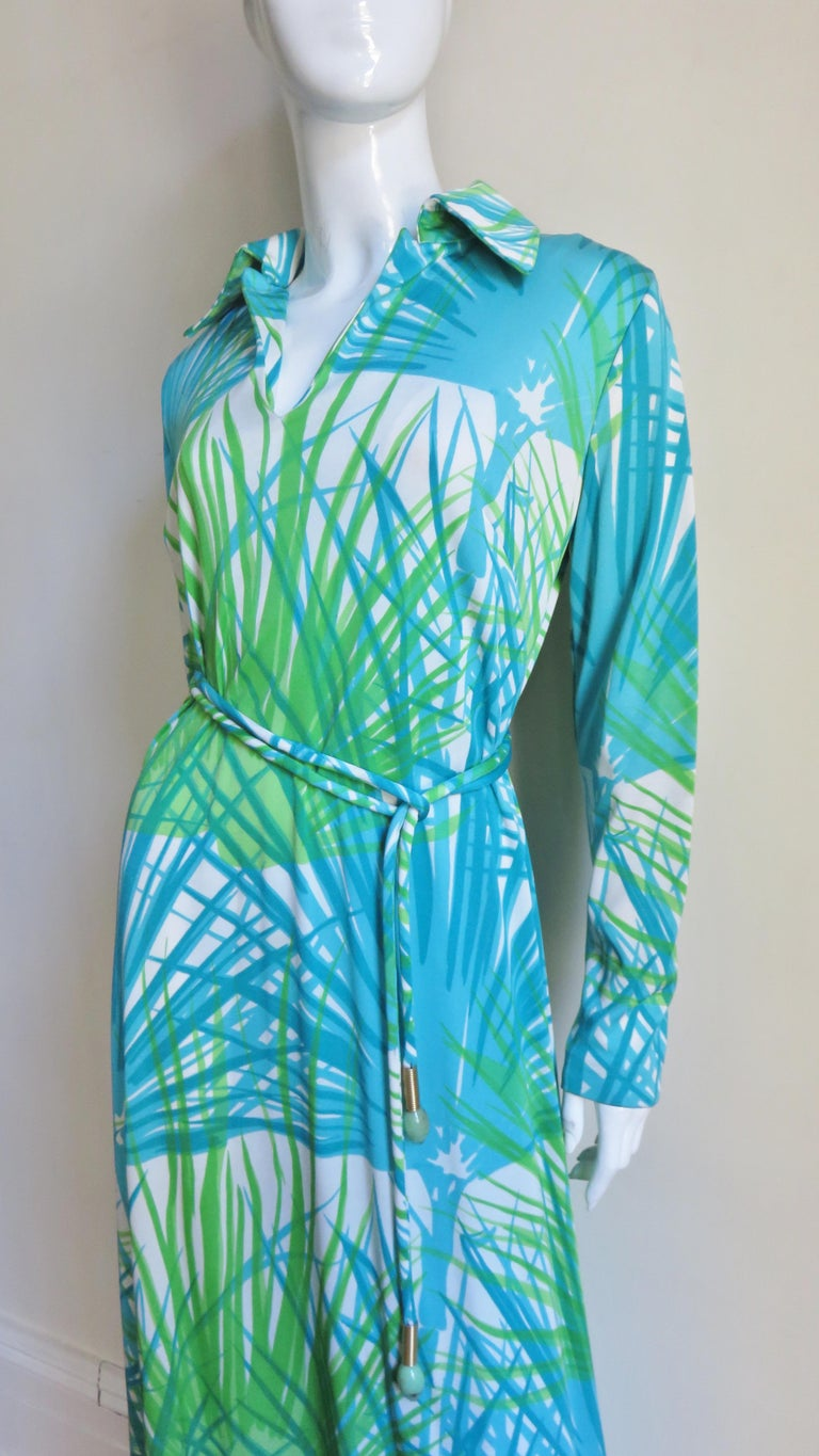 1970s La Mendola Maxi Dress and Silk Over Skirt In Good Condition For Sale In New York, NY