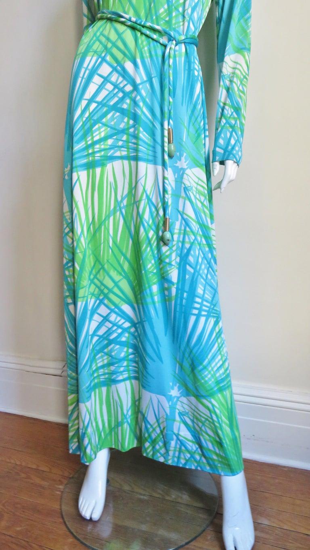 1970s La Mendola Maxi Dress and Silk Over Skirt For Sale 1