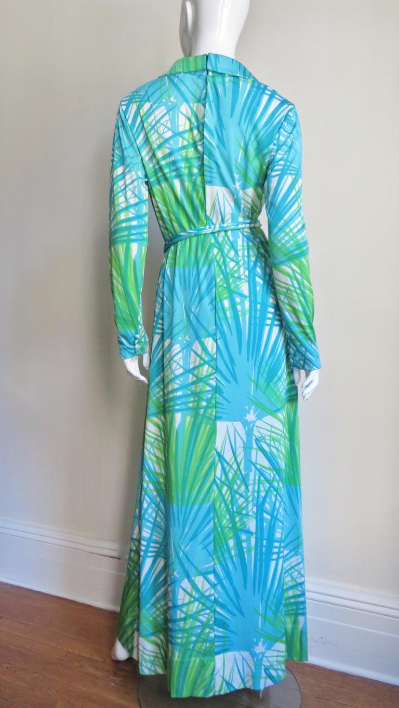 1970s La Mendola Maxi Dress and Silk Over Skirt For Sale 6