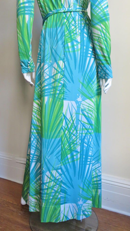 1970s La Mendola Maxi Dress and Silk Over Skirt For Sale 9