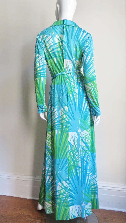1970s La Mendola Maxi Dress and Silk Over Skirt For Sale 10