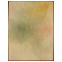 1970s Large Abstract Oil Painting by Brother Lavrans Nielsen