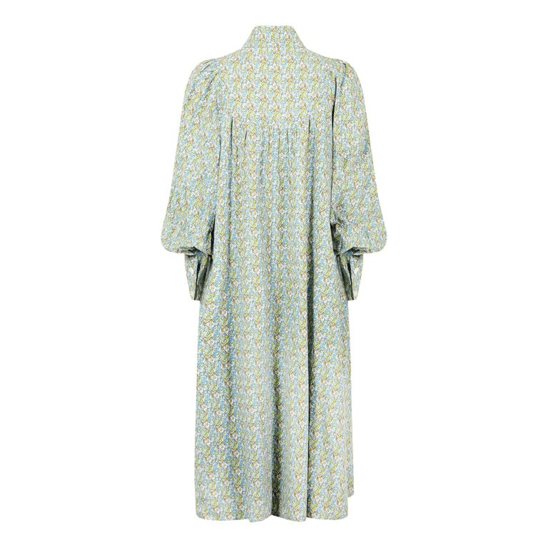Laura Ashley was the most famous name on the British High Street from the late 1960s and throughout the 1970s.  The textile founded company made some fantastic and fabulous quality clothing taking inspiration from bygone eras. This dress is styled