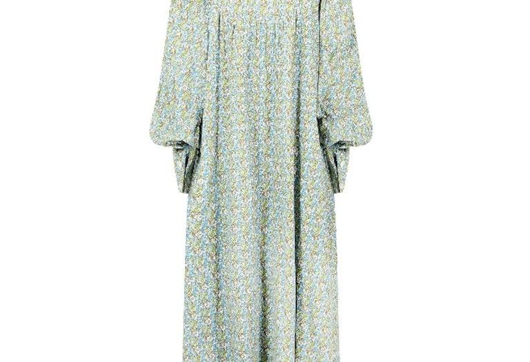 Women's 1970s Laura Ashley Floral Cotton Smock Dress For Sale