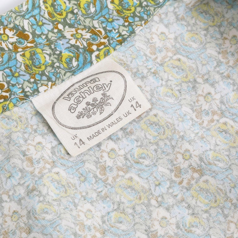1970s Laura Ashley Floral Cotton Smock Dress For Sale 1