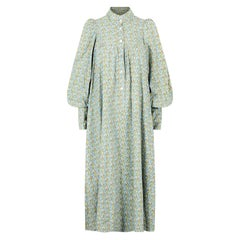 1970s Laura Ashley Floral Cotton Smock Dress