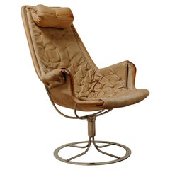 1970s Leather Jetson Swivel Lounge Chair