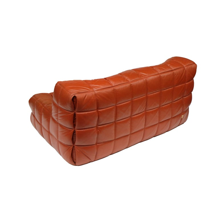 1970s Leather Kashima Two-Seat Sofa by Michel Ducaroy for Ligne Roset In Good Condition In Nottingham, Nottinghamshire