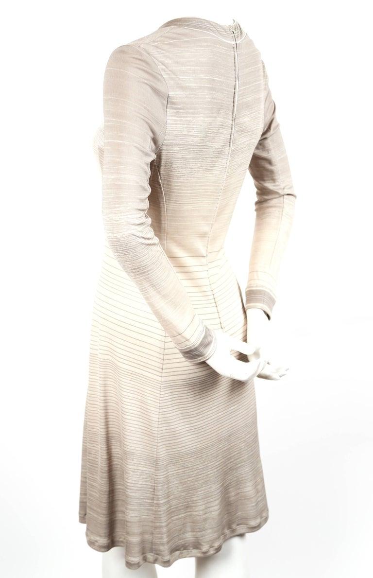 Beige 1970's LEONARD silk jersey dress For Sale
