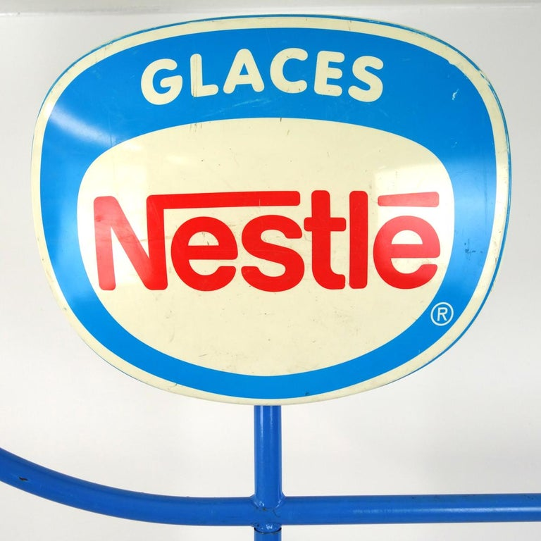 Mid-Century Modern 1970s Life-Size Promotional Object Made by Nestlé Selling Ice Cream