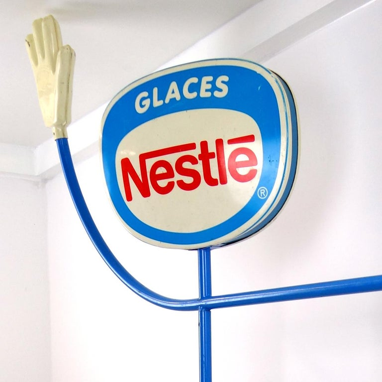 French 1970s Life-Size Promotional Object Made by Nestlé Selling Ice Cream