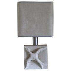 1970s Limestone Table Lamp by Albert Tormos