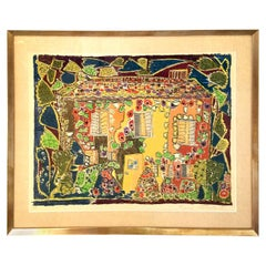 1970s Lithograph by Gloria Vanderbilt titled House
