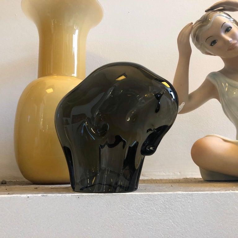1970s Livio Seguso Mid-Century Modern Brown Murano Glass Bull For Sale 4