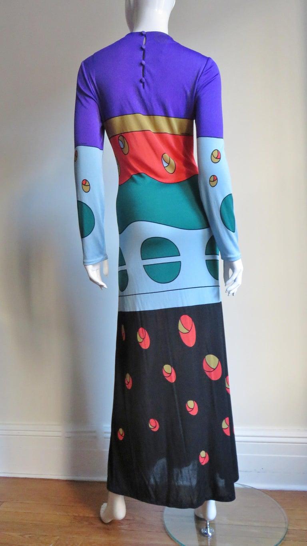 1970s Louis Feraud Mod Maxi Dress For Sale 5
