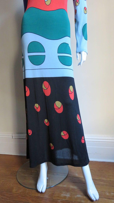 Women's 1970s Louis Feraud Mod Maxi Dress For Sale