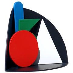 1970s Lucio Del Pezzo Trigon Italian Design Neodada Framart Wood Sculpture