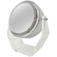 """1970s Lucite & Chrome """"Eye Ball"""" Swivel Vanity Mirror Light By, Rialto"""