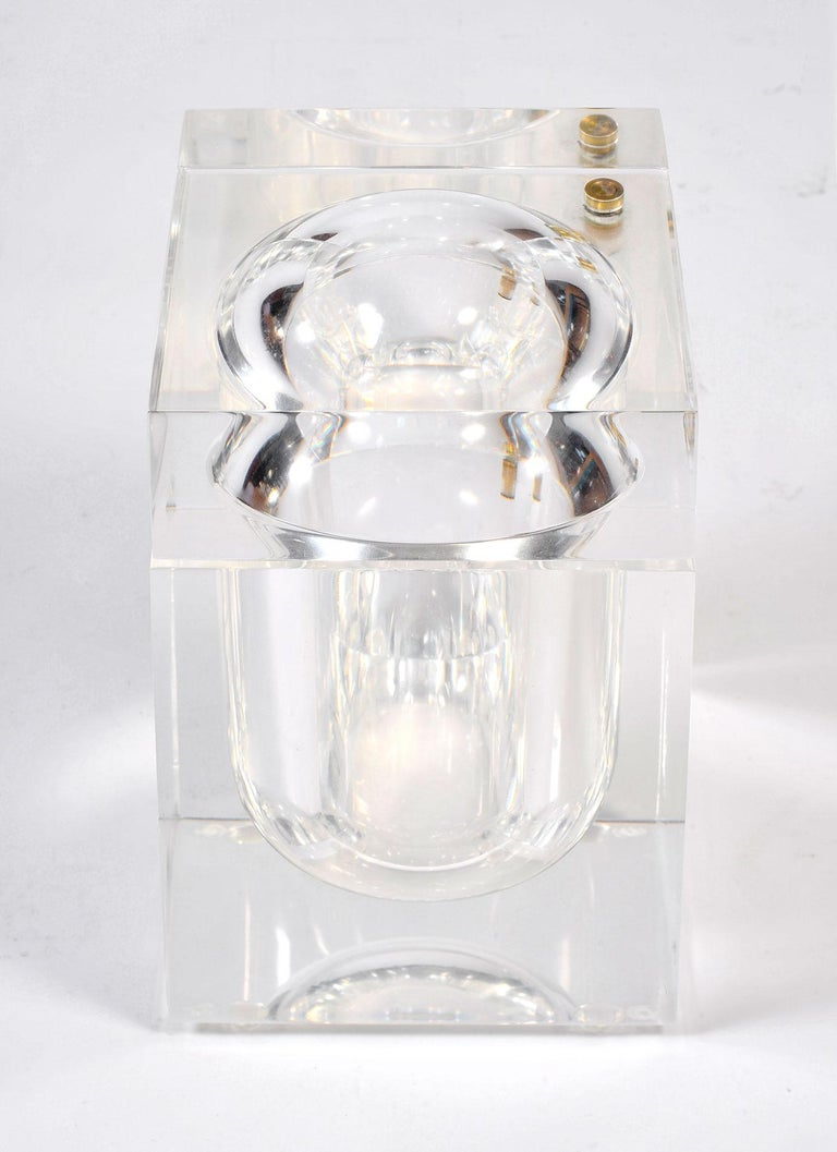 1970s Lucite Ice Bucket by Alessandro Albrizzi In Good Condition In London, GB