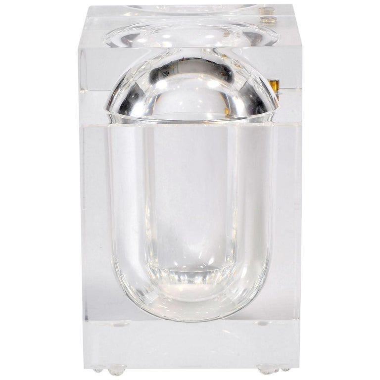 1970s Lucite Ice Bucket by Alessandro Albrizzi