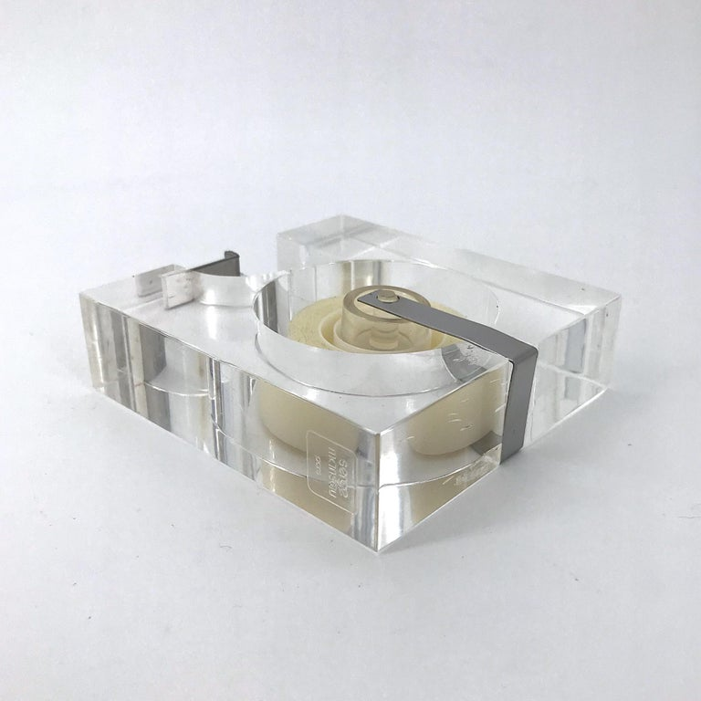 1970s Lucite Tape Dispenser by Two's Company for Serge Mansau Paris MOMA Design In Good Condition For Sale In Washington, DC