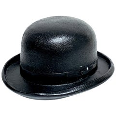 1970s Magritte Style Bowler Hat Sculpture