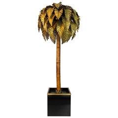 1970s Maison Jansen Palm Tree Floor Lamp